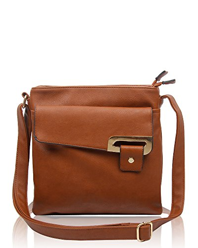 RS.FASHIONS Messenger Bags, Borsa a tracolla donna Multi Colour M Brown