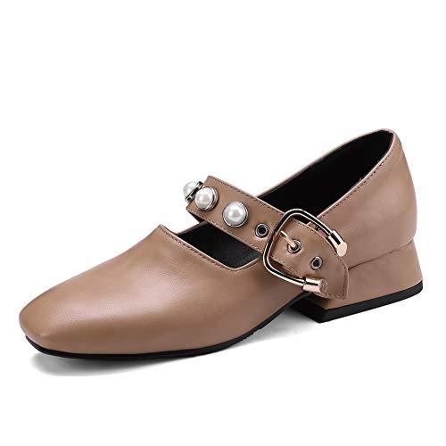 BalaMasa Womens Casual Travel Solid Urethane Pumps Shoes APL10757 apricot