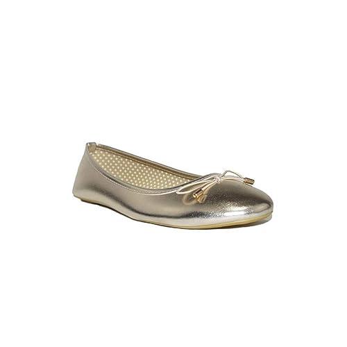 Reve - MANOLETINA Reve C213-1 Zapatos Bailarinas para Mujer Doradas Plata  Oro Plateadas Baratas Casuales Moda Primavera de Mujer  Amazon.es  Zapatos  y ... 25ff40766e9a