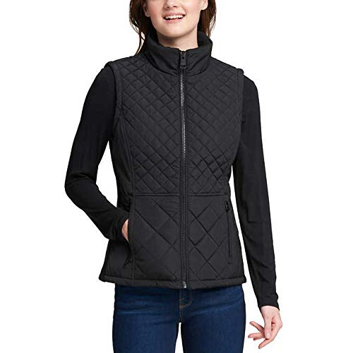 (Andrew Marc W's Quilted Insulated Vest (Black, Medium))
