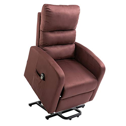 Homegear Microfiber Power Lift Recliner Chair with Electric Recline and Remote Chocolate