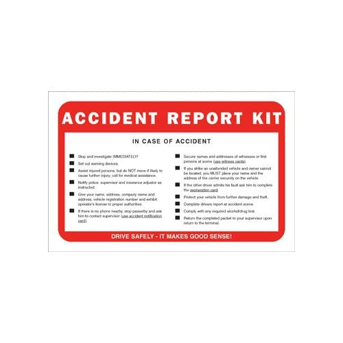 Accident Report Kit in Envelope - No Camera (Qty: 10 Units) for cheap