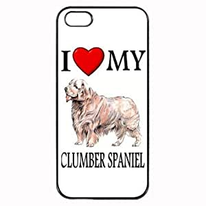 Pink Ladoo? Custom Clumber Spaniel I Love My Dog Photo iPhone 5 5S Case Cover Hard Shell Back by runtopwell