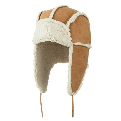 Women's Faux Shearling Trooper Hat - Natural OSFM