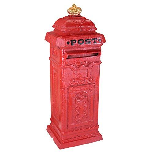 Design Toscano British Style Foundry Post Box For Sale