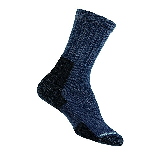 Thorlos Women's Thick Padded Hiking Socks, Crew, Slate Blue, Large (Women's Shoe Size 9.5-11.5)