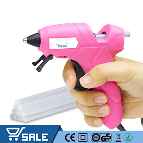230V 12(70) W Hot Melt Glue Gun High Temperature Melting Repair Tool Kit With 10Pcs 7Mm Glue Sticks For Craft Projects EU