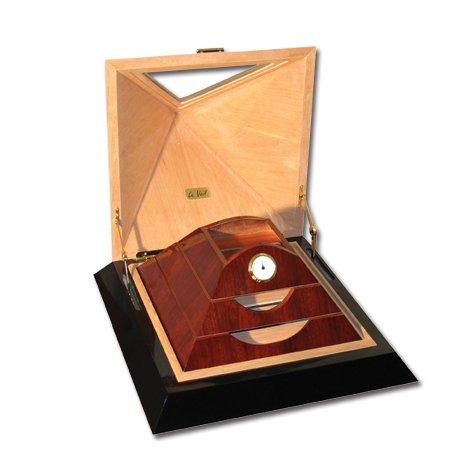 Le Veil 100ct Pyramid Cigar Humidor (Brown)