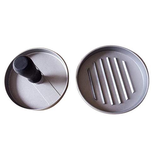 PlenTree Manual Hamger Presses 11.7 9cm Alloy ger Maker RoundShape Plastic Handle PattyMeatSau Grill Cutlets by PlenTree (Image #3)