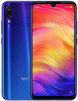 """Xiaomi Redmi Note 7 Smartphones 6,3"""" Schermo intero, Dual SIM, 4GB RAM + 64GB ROM, Snapdragon 660 Mobile, processore Octa-Core, Colore Blue Neptune"""
