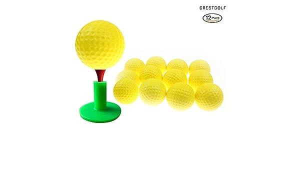 Crestgolf Foam Sponge Practice Ball 12 pcs per bag (yellow ...