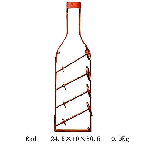 Portabottiglie da vino Retro Vino rosso Vino Portabottiglie Vino Portabottiglie Ferro da muro Decorazioni Portabottiglie da parete ( Colore : Brass ) Season of purchase