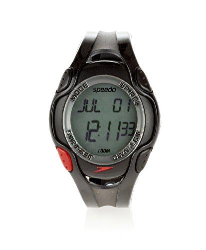 SPEEDO Aquacoach Watch, Black/Red