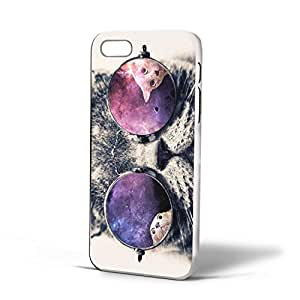 Galaxy Hipster Cat for Iphone Case (iPhone 6s White)