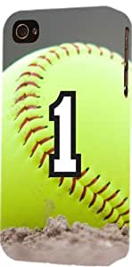 Softball Sports Fan Player Number 1 Plastic Snap On Decorative iPhone 5c Case