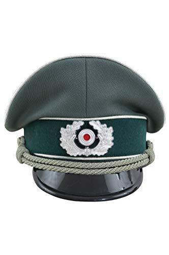 (WW2 German Heer Infantry officer Gabardine Visor Cap with insignia-61)