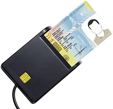 Fasmodel Type C Smart Card Reader Common Access CAC Card Reader for Sim//ATM//IC ID Cards