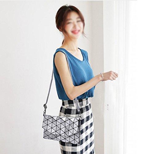 Clutches Bags Bag Silver Messenger Geometric Women Evening Lattice Crossbody Fashion Purse Handbag Sherry HzvpqW