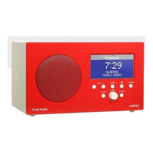 Tivoli ALBERGO GRD Table Radio Alarm Clock, Gloss Red Lenbrook Canada (Audio)
