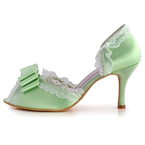 Kevin Fashion ,  Damen Modische Hochzeitsschuhe Grün