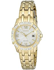 Citizen Womens Eco-Drive Stainless Steel Diamond Accented Watch with Date, EW2362-55A