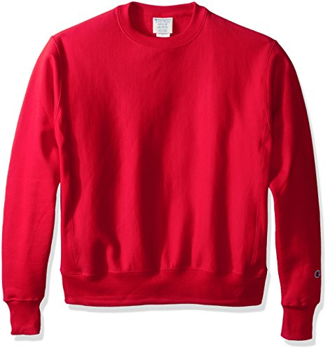Champion LIFE Men's Reverse Weave Crew, Team Red Scarlet, M