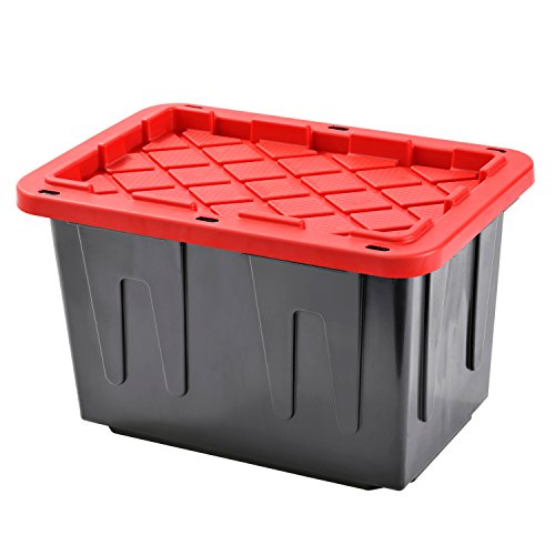 plastic-heavy-duty-storage-tote-box-23-gallon-black-with-red-lid-stackable4-pack