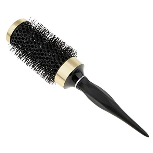 Hair Dressing Brush Ceramic Iron Round Comb Barber Salon Brush for Styling (Size - 45mm)