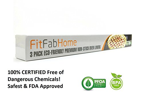 FitFabHome Non-Stick Oven Liners - packaging