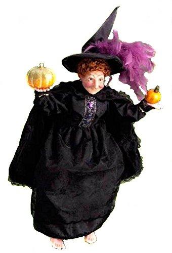 Retired Kurt Adler Jacqueline Kent *Pumpkins N Potions* Witch for Halloween