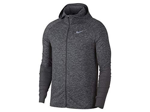 Nike Con E Running Uomo A Lunghezza Da Felpa Grigio Tutta 021 Element Zip Cappuccio 928555 HgwXHr