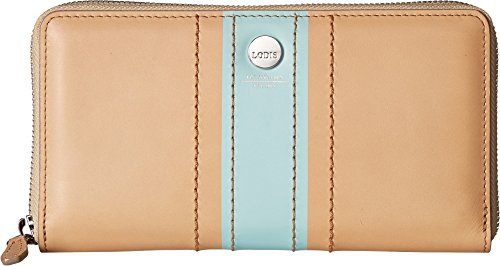 Lodis Rodeo Stripe RFID Perla Zip Wallet (Beige) by Lodis