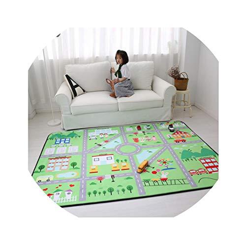 Korean Cartoon Carpet Kids Room Slow Rebound Carpet Living Room Home Decor Bedroom Rug Thicken Kids Tatami Crawling Floor Mat,City,1500mmx1950mm