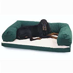 Amazon.com : Beasley Couch Dog Bed - Polysuede Tan - Large