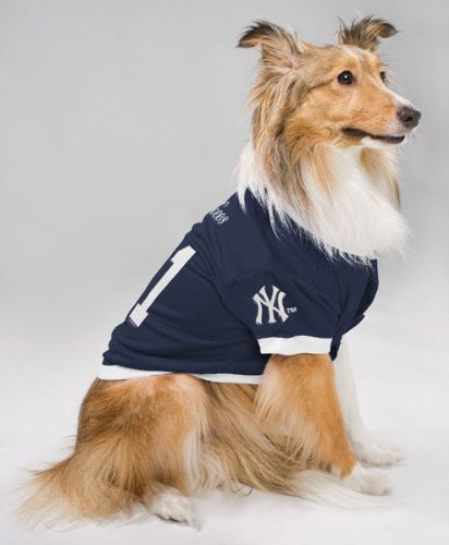 reputable site 78da2 e90b8 Amazon.com : New York Yankees Dog Jersey : Sports Fan ...