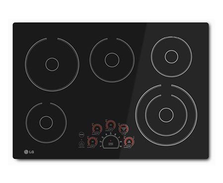 "30"" Radiant Cooktop in Black with 5"