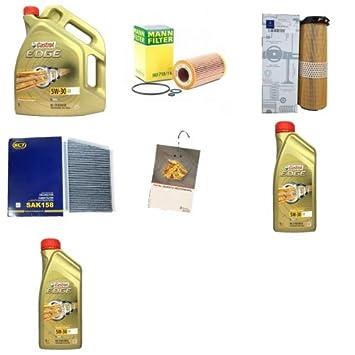 inspektionskit 7 litros Castrol Edge 5 W30 C3 antifricción y 3 filtros ...