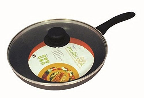 Saute / Frying Pan 30cm & Glass Lid INDUCTION USE Harbenware