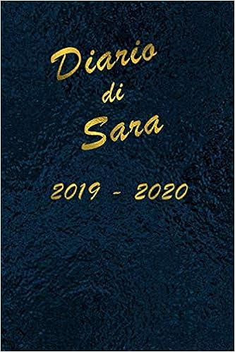 Agenda Scuola 2019 - 2020 - Sara: Mensile - Settimanale ...