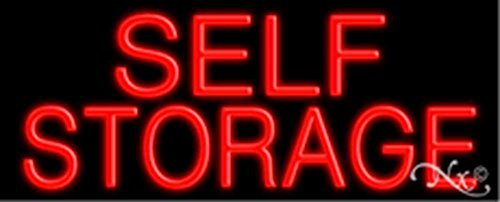 13x32x3 inches Self Storage NEON Advertising Window Sign by Light Master
