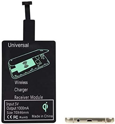 BETTERSHOP™ Receptor de Carga inalámbrico Tipo C, Ultra Fino, Módulo de Receptor de Carga rápida inalámbrico 1000mah USB A Qi para teléfono Inteligente con Interfaz por Android Tipo A