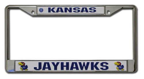 NCAA Kansas Jayhawks Chrome Plate Frame - Kansas License Plate