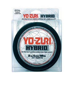 Yo-Zuri 275-Yard Hybrid Monofilament Fishing Line, Clear, 15-Pound