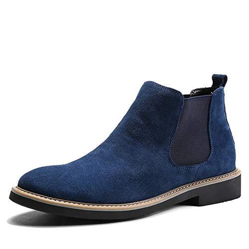 Stivali morbidi Infradito da Colore stivali EU Chelsea con uomo Dimensione Jincosua su 44 in casual suola Blu antiscivolo gomma f80xwdq0R