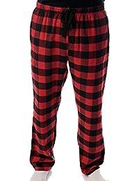 mens flannel pajamas plaid pajama pants for men lounge sleep pj bottoms