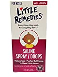 Little Remedies Saline Spray/Drops for Stuffy Noses, 1 Ounce, Pack of 3