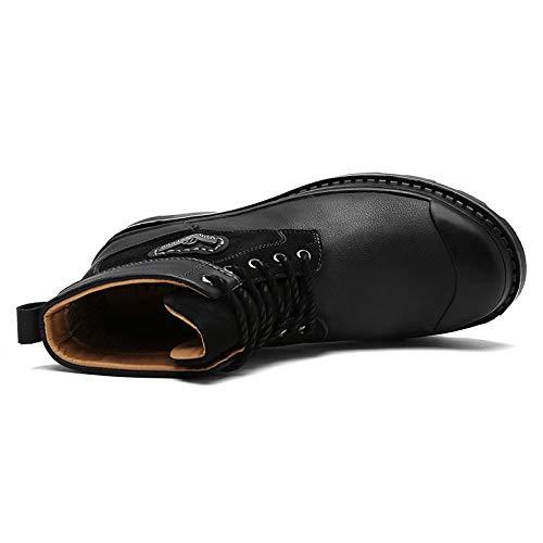 Bottes Hommes Lacets Marron Bottines Air Desert En Travail Pour Plein De Randonnée À Sécurité Black Noir Montantes Chaussures Le q6wg5Xw