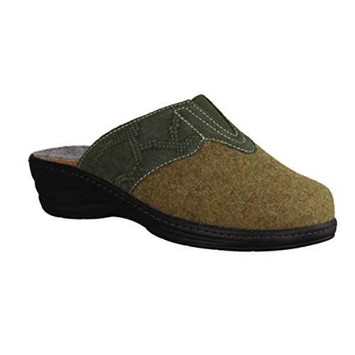 SLOWLIES green Women's Up Flats Grün Lace arTIq68wa