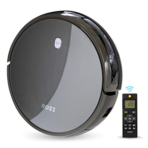 Rozi TidyBot Robot Vacuum Cleaner with Remote Control, 1600Pa, 4 Cleaning Modes, Smart Infrared-Sensor, Quick Charge (US Edition) ()