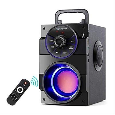Altavoz Bluetooth Portátil Gran Potencia Subwoofer Estéreo Inalámbrico Altavoces Bajos Pesados Caja De Sonido Soporte Radio FM TF Aux USB Altavoz Negro: Amazon.es: Electrónica